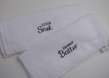 Cock Snot & Fanny Batter Towels