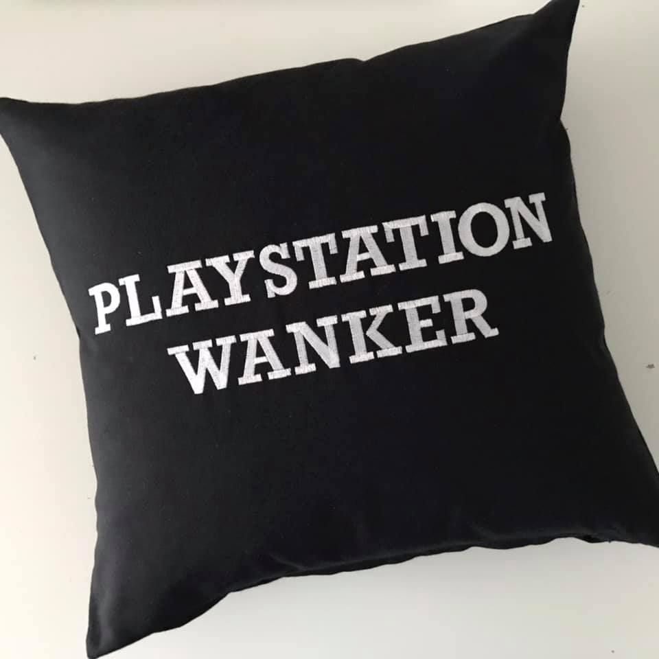 Playstation Wanker Cushion