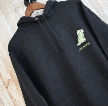 Cuntosaur Dinosaur Embroidered Black Hoody