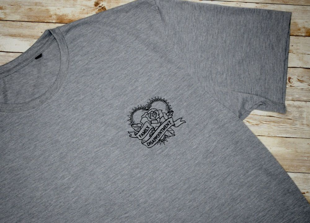 Family Disappointment Embroidered T shirt