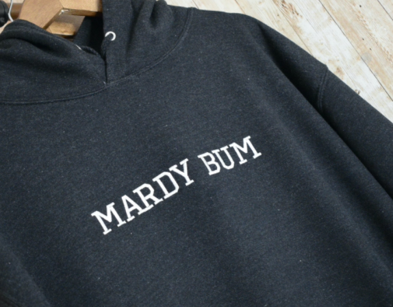 Mardy Bum  Embroidered Black Hoody