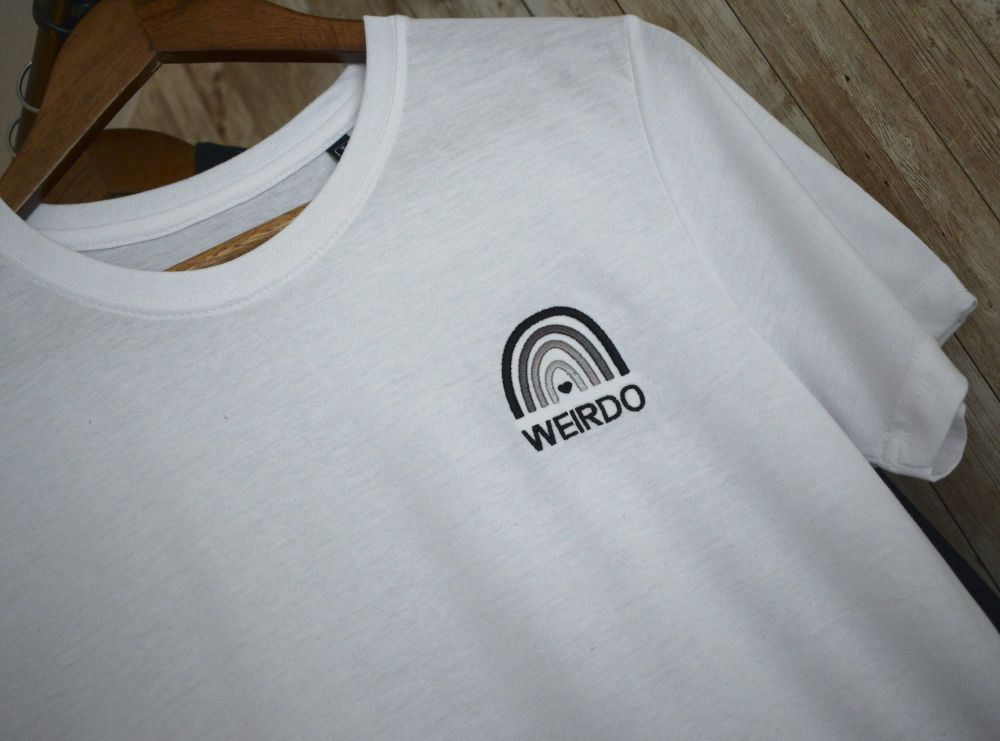 Weirdo Embroidered monochrome T shirt