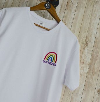Dick Dodger Rainbow Embroidered T shirt