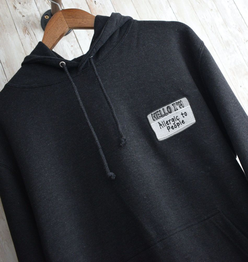 Hello, I'm Antisocial Embroidered Black Hoody