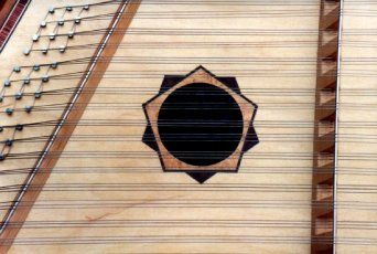 Walnut and maple inlay by Manning