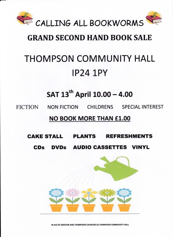 Booksale Poster April 19