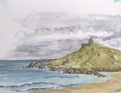 watercolour island