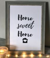 Home Sweet Home Framed Print - Choice Of Frames!
