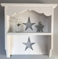 Handmade Star Cut Out Shelves - White