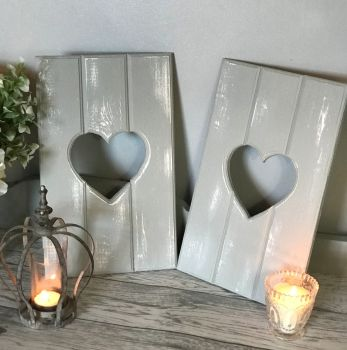 Handmade Reversible Mini Heart Cut Out Shutters - Choice Of Colours ❤️