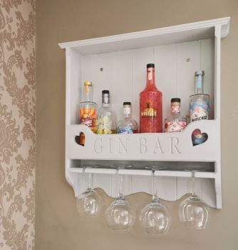 Handmade Gin Bar Shelf *MADE TO ORDER*