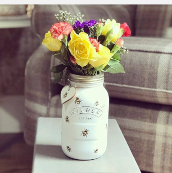 Handmade Beautiful Bees Kilner Jar
