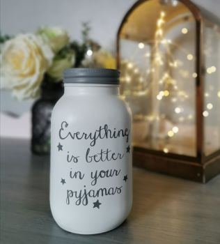 Pyjamas Quote Jar