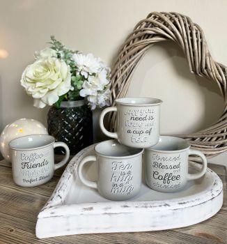 Ceramic Coffee/Tea Script Mug