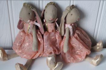 Maileg, Bunny Princess in peach dress