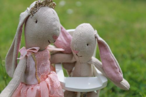 Maileg Princess bunny and micro bunny