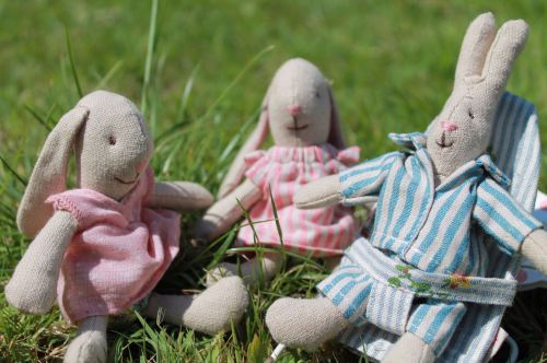 Maileg micro bunnies in new outfits