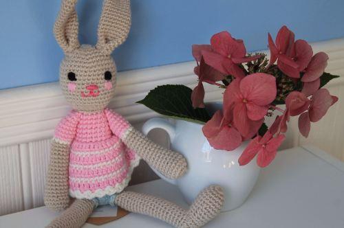 Hand Crochet Bunny - Pink Girl