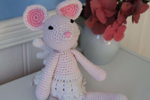 Hand Crochet Mouse Angel
