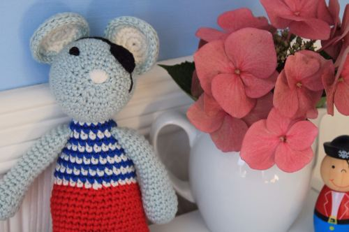 Hand Crochet Mouse Pirate