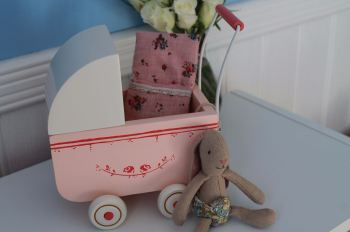 Maileg Micro Pram & Baby Bunny Set