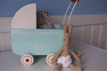 Maileg Micro Pram & Micro Rabbit Set