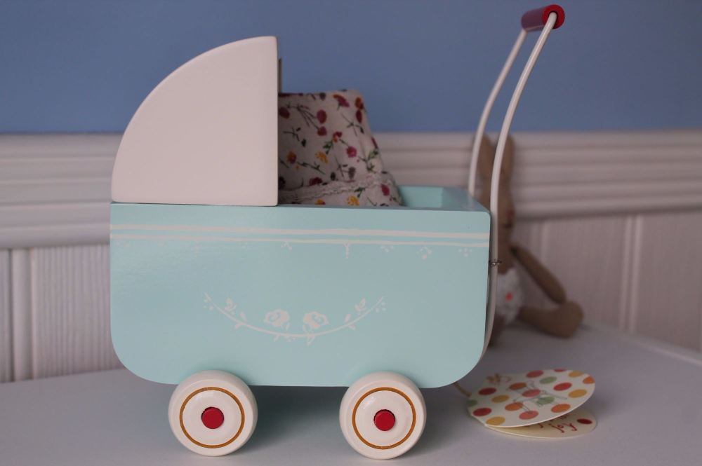 Maileg Light Blue Micro Pram