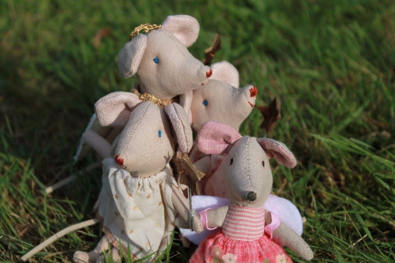 maileg little sister and maileg fairy mice
