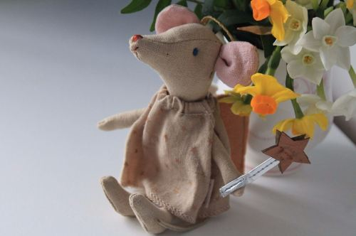 Maileg, Fairy Mouse with Gold Star Dress