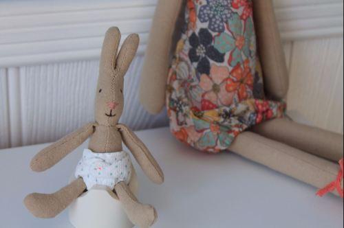 Maileg Micro Rabbit and White Potty Set