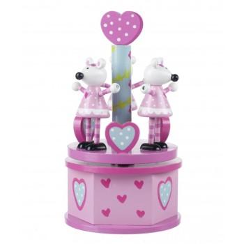 Orange Tree, Pink Mouse Musical Carousel