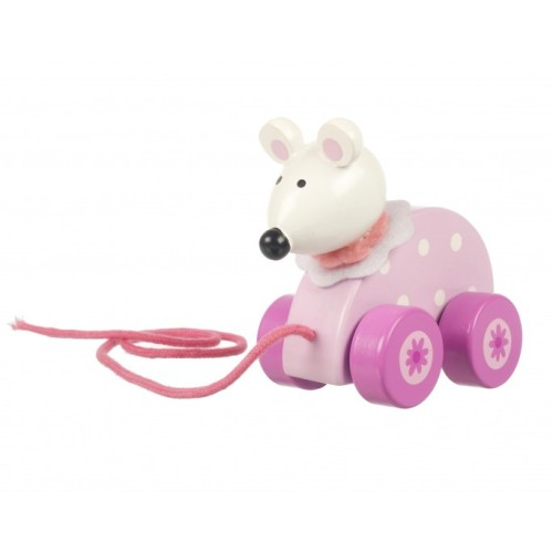Pull Along Pink Mouse