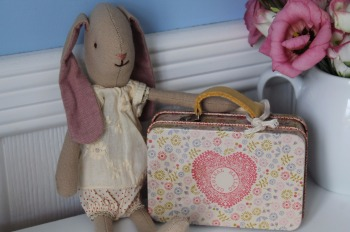 Maileg Mini Bunny Suitcase and Dress Set
