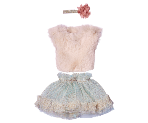 Maileg, Mini Blouse and Tulle Skirt (rose or Mint??)