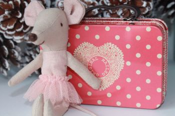 Maileg, Big Sister Mouse and Melon Spotty Suitcase Set