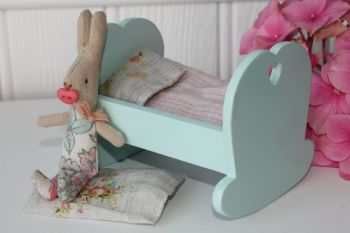 Maileg, My baby girl in a cradle Set