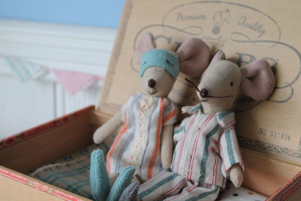 Maileg Mum and Dad Mouse in a Box 2017