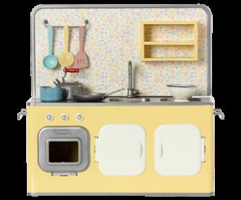 Maileg, Retro Yellow Metal Kitchen