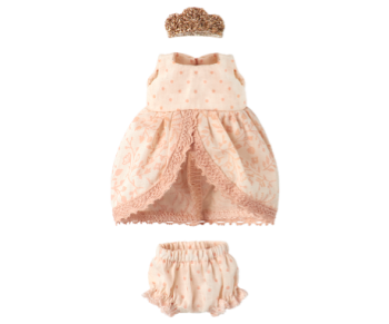 Maileg, Micro and Mouse Princess Dress (Rose)