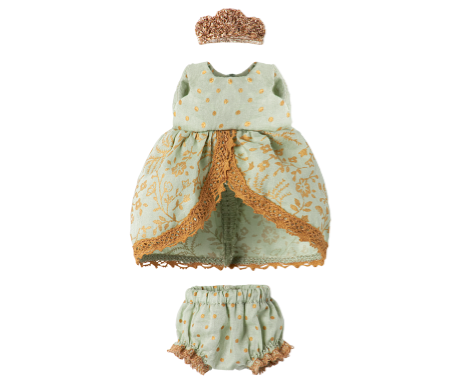 Maileg, Micro and Mouse Princess Dress (Mint)