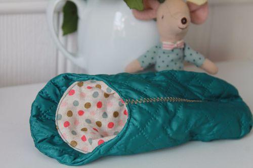 Maileg, Mouse Sleeping Bag - Blue