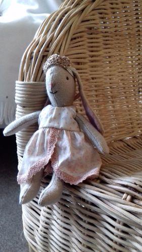 maileg micro bunny in pink princess dress