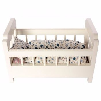Maileg, Wooden Cot-Bed Off White