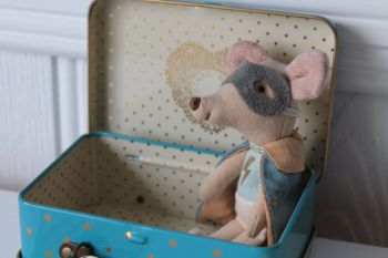 Maileg, Guardian Super Hero Big Brother Mouse in Suitcase