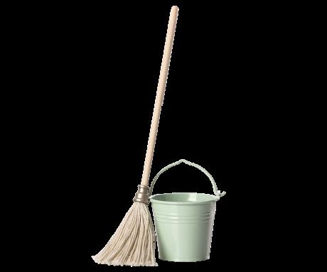 Maileg, Bucket and Mop Set