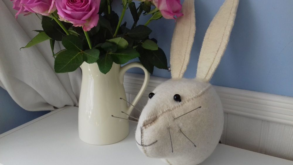 Fiona Walker, White Rabbit Head (mini)