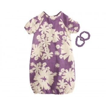 Maileg, Mega Purple Flower Dress w two Bangles