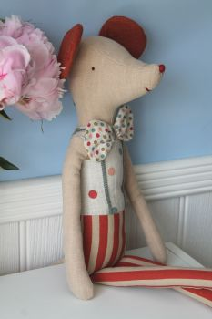Maileg, Circus Stilt Clown, Maxi Mouse