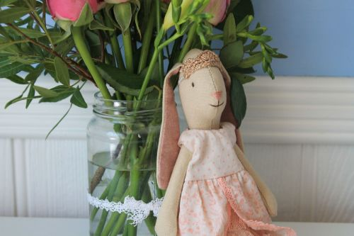 Maileg, Mini Princess Bunny, Rose