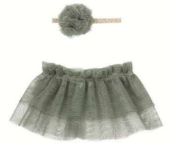 Maileg, Tutu & Hairband for Mini and Size 2 bunny- Petrol